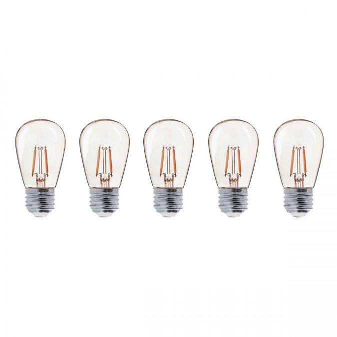 Lot de 5 ampoules LED E27 PARTY BULB Filament