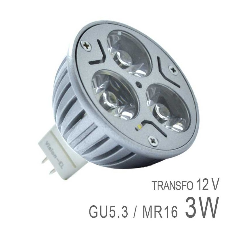 Ampoule led gu5 3 3x1w high power boutique officielle - Ampoule gu 5 3 ...
