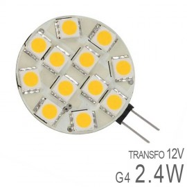 Ampoule LED G4 Plate 2,6W SMD Dimmable