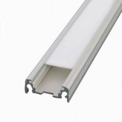 Profilé Aluminium LED Plat - Ruban LED jusqu'à 14mm