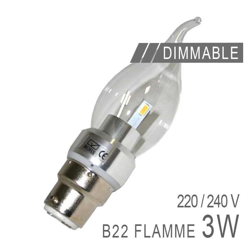 ampoule led b22 3w flamme dimmable boutique officielle arum lighting. Black Bedroom Furniture Sets. Home Design Ideas