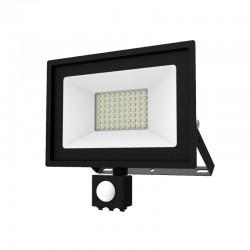 Projecteur LED SMD 50W Extérieur IP65 Gris + Détecteur