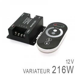 Variateur Dimmer 12V 216 Watts + Télécommande RF