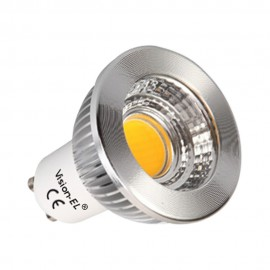Ampoule LED GU10 6W COB Aluminium 80° (Dimmable en option)