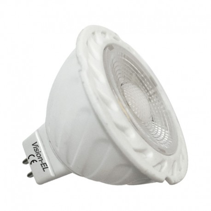 Ampoule LED GU5.3 5W COB Céramique 38° Dimmable