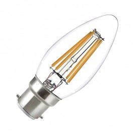 Ampoule LED B22 4W COB Filament Flamme