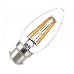 Ampoule LED B22 4W COB Filament Flamme