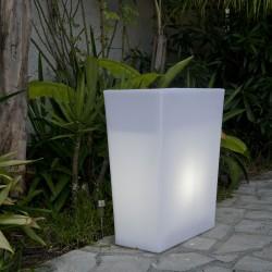 Jardinière lumineuse blanche DINY W70