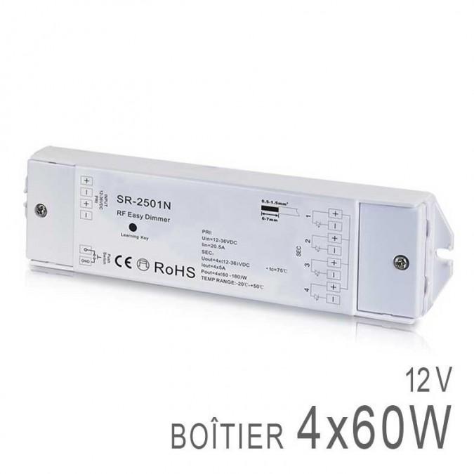 Boitier Variateur / Récepteur RF 4x Channels 12v Sunricher