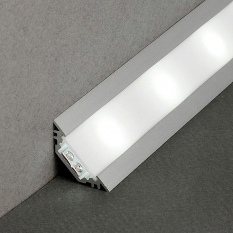Profilé Aluminium LED Angle 45° - Ruban LED 10mm