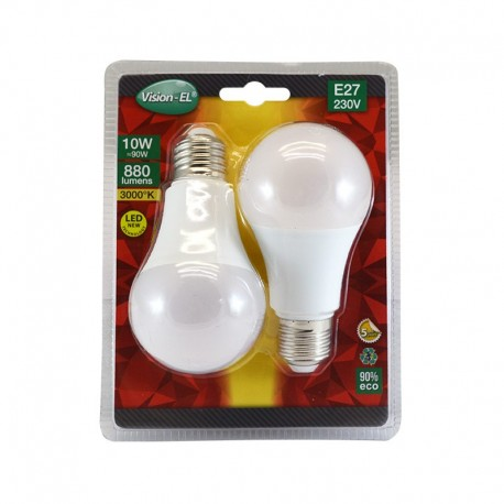 Lot de 2 Ampoules LED E27 10W Bulb