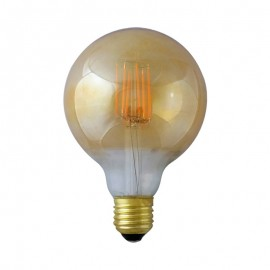 Ampoule LED E27 Globe 4W COB Filament G95 Golden