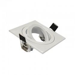Support de spot carré orientable Blanc 88x88 mm
