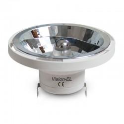 Ampoule LED AR111 (culot G53) 15W COB 38° Finition Aluminium