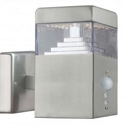 Applique Pyramide Inox 30 LED SMD 7.5W à détecteur