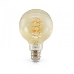 Ampoule LED E27 Globe 4W COB Filament Spirale G95 Golden