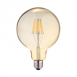 Ampoule LED E27 Globe 2W COB Filament G125 Golden