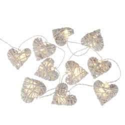 Guirlande LED 10 COEURS