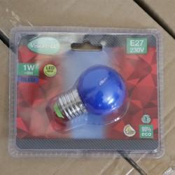 Ampoule LED E27 1W Bleue