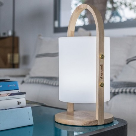 Baladeuse lumineuse et musicale rechargeable WOODY
