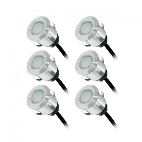 Kit Complet 6 Mini Spots Encastrables x 0.6W 12V LED