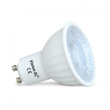 Ampoule LED GU10 6W COB Céramique 80° (Dimmable)