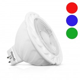 Ampoule LED GU5.3 - 5W COB Dimmable - Bleu, Rouge, Vert
