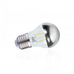 Ampoule LED E14 filament 4W G45 Calotte argentée