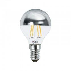 Ampoule LED E14 filament 2W P45 Calotte argentée