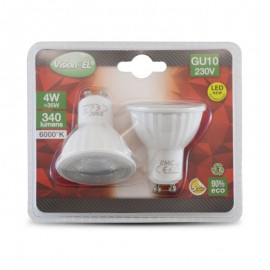 Lot de 2 Ampoules LED GU10 4W 38°