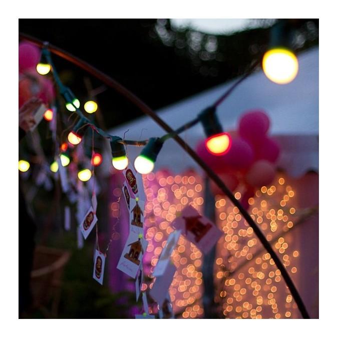 Guirlande LED Guinguette Professionnelle 10 Mètres RGB - 10 douilles + Ampoules