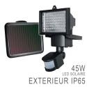Projecteur LED Extérieur Solaire rechargeable + détecteur