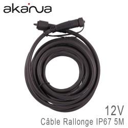 Rallonge Câble 5 mètres avec connecteurs Mâle/Femelle IP67 12V