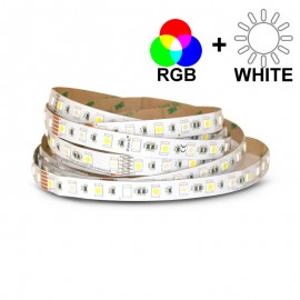 Ruban LED 14,4 Watts /m RGB+White - Rouleau 5M 24V