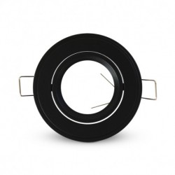 Support de spot rond orientable noir Ø86 MM