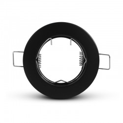 Support de spot rond noir Ø79 mm