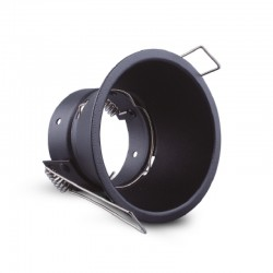 Support de spot rond fixe BBC basse luminance Ø83mm noir