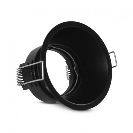 Support de spot rond orientable BBC basse luminance Ø82mm noir